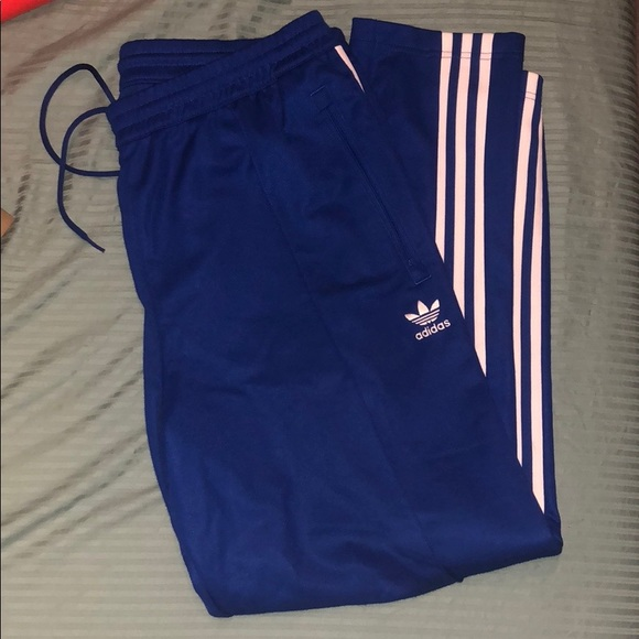 Blue adidas Beckenbauer track Pants